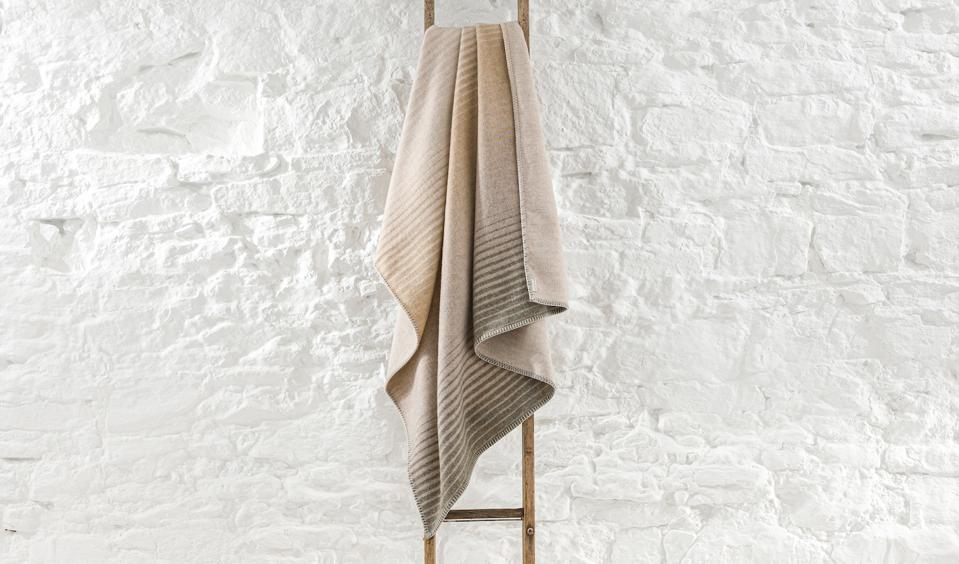 Blanket on a ladder