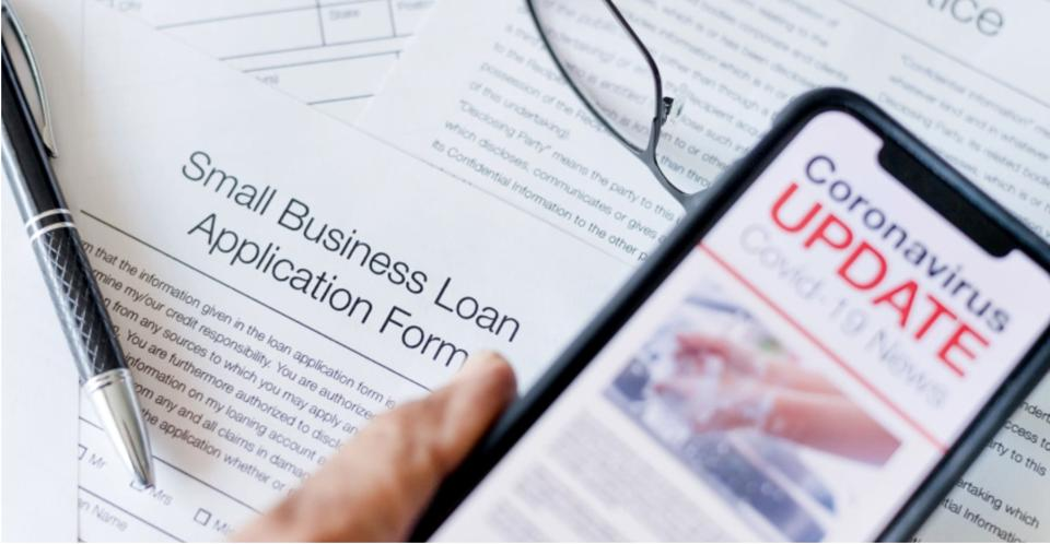 Small business loan application form.