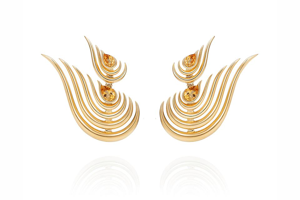 Fernando Jorge Beacon earrings in 18K yellow gold with 2.85 carats citrine, $11,000, net-a-porter.com