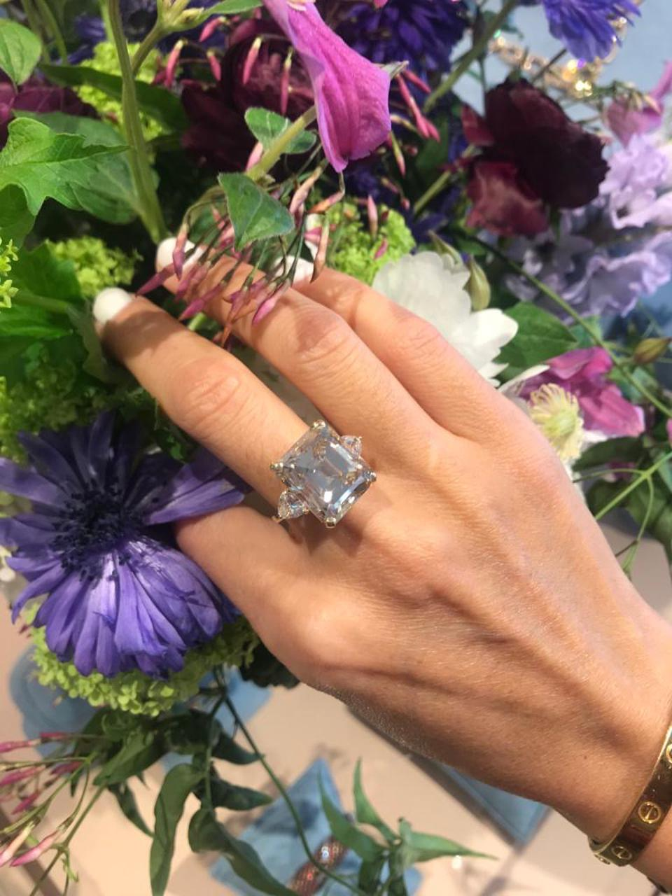 16.77 carat fancy light brown diamond ring available at Tiina Smith Jewelry Photo Credit: