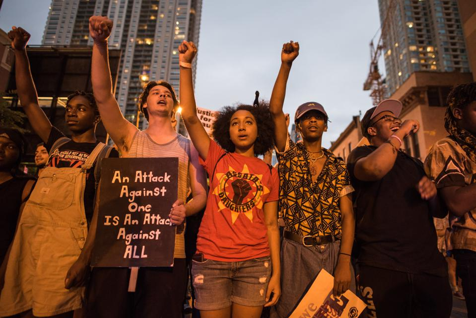 Youth Activists Lead March Against Police Brutality