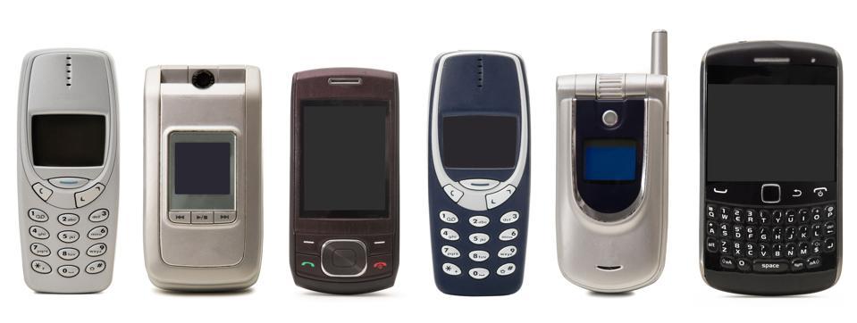 Selection of retro phones.