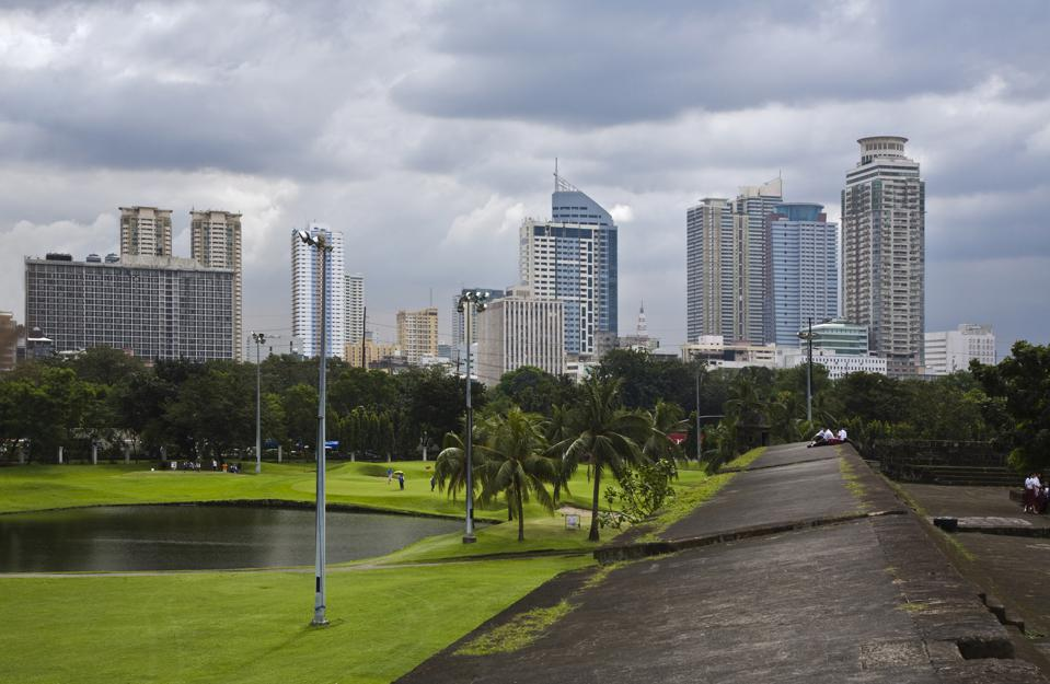 The Club Intramuros Golf Course As Seen From The Walls Of The Historical District, Manila