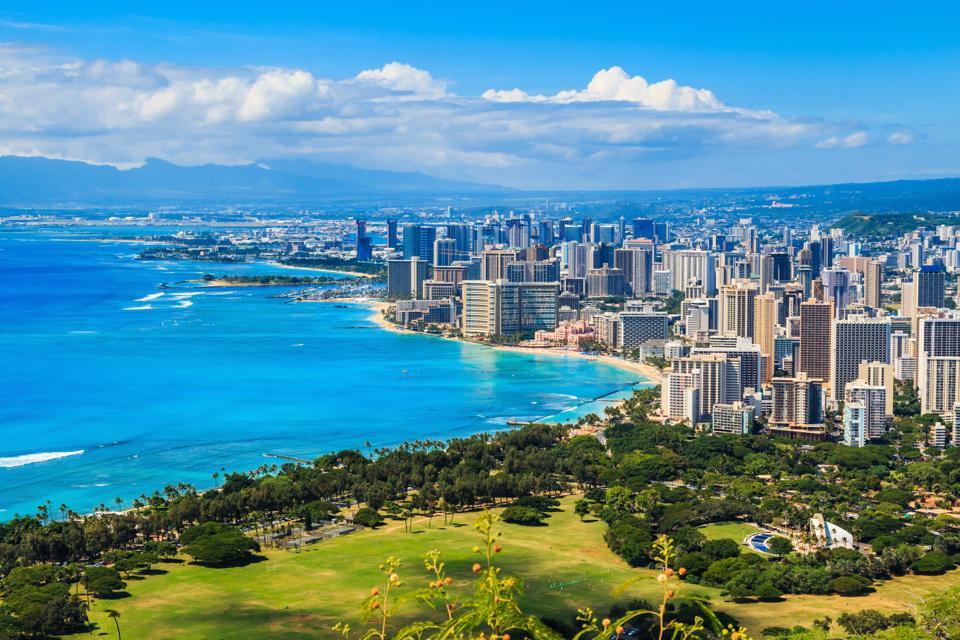 Honolulu, Hawaii where one bedroom apartment prices gave decreased