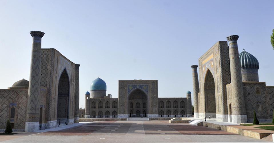 Uzbekistan's famous Registan Square in Samarkand.