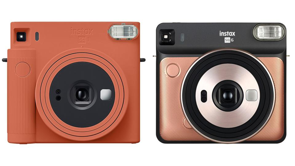 The Fujifilm Instax Square SQ1 (left) alongside the Instax Square SQ6