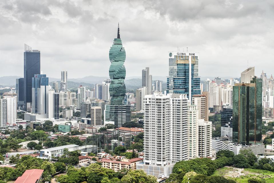 Skyline of Panama City...
