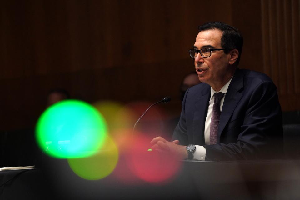 Treasury Secretary Mnuchin And Fed Chair Powell Testify On CARES Act Before Senate
