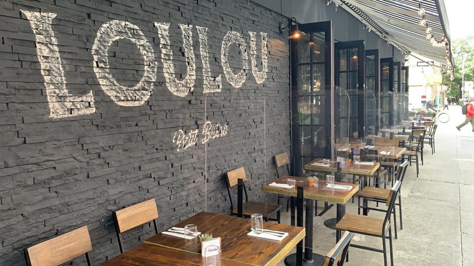 Loulou's outdoor seating leaves nothing to be desired, and attempts to ease New Yorkers back into a sense of normalcy should they choose to stick around to eat.