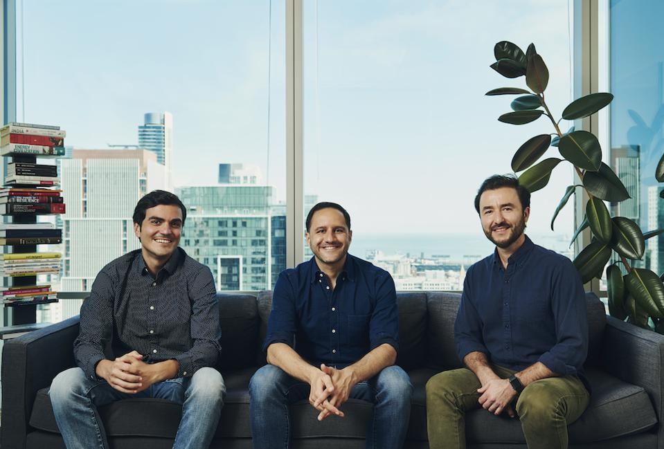 Collective's founding team: From left to right: Bugra Akcay (co-founder & CTO), Hooman Radfar (co-founder & CEO), Ugur Kaner (co-founder & CPO)