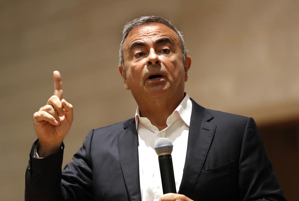 Carlos Ghosn appeared in Beirut this week to unveil his business initiative.