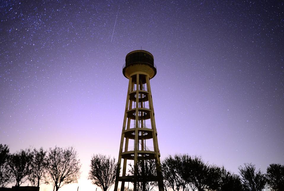 Orionid meteor shower in Usak of Turkey
