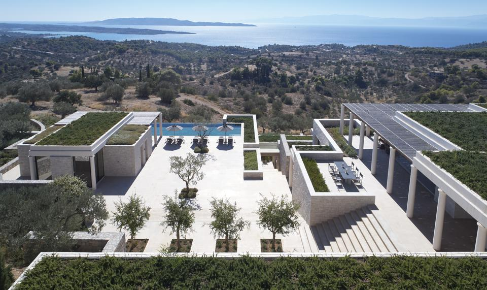 One of the branded residences at the ultra-prestigious Amanzoe hotel in Porto Heli, Greece