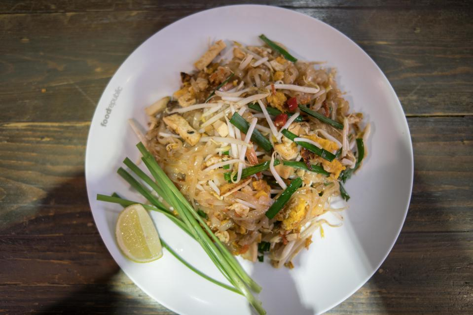 A plate of Pad Thai seen at the Food Republic food court in...