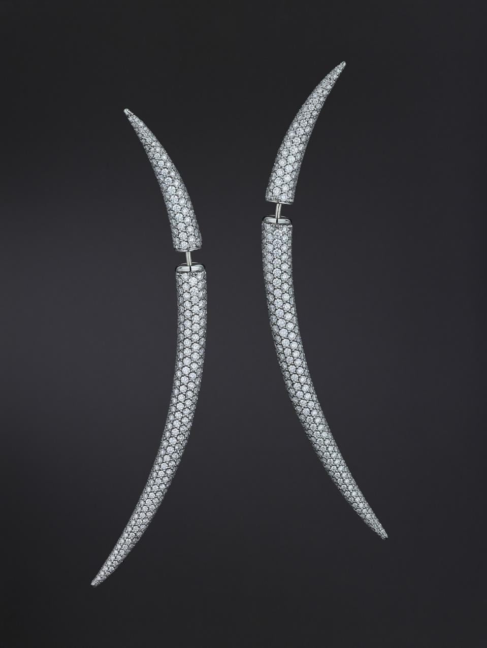 Diamond Quill Earrings by Shaun Leane, $56,900