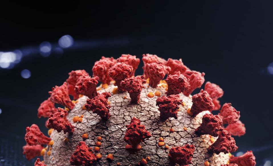 Corona virus close up