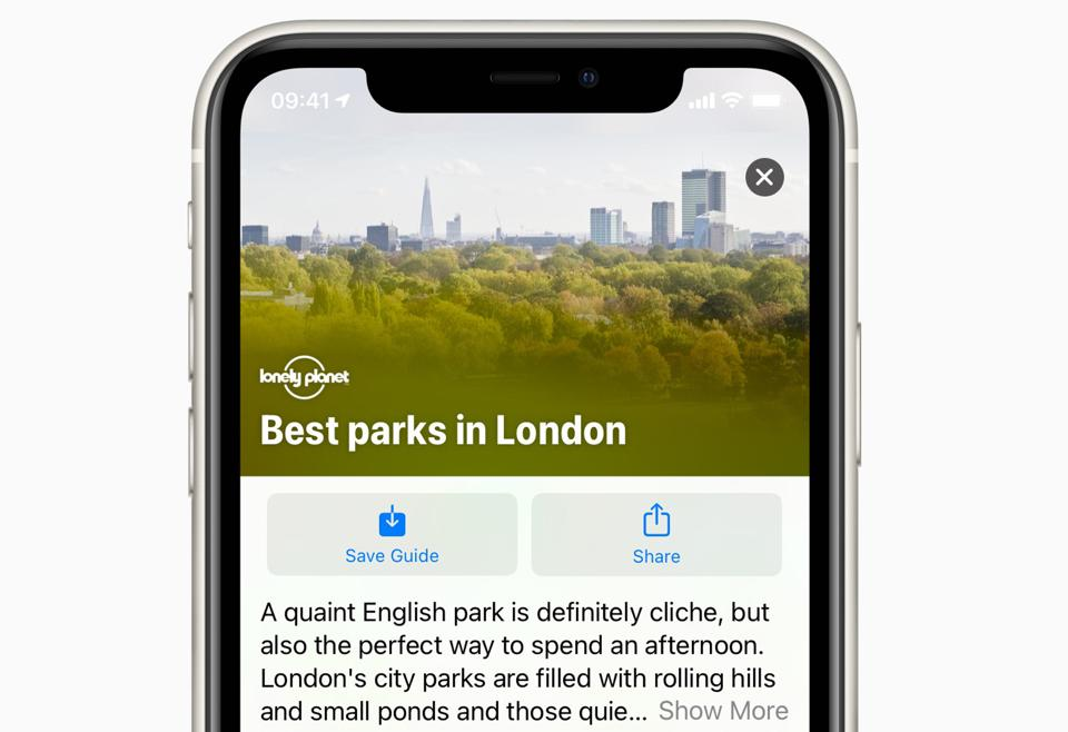 Guides come to Apple Maps with iOS 14.