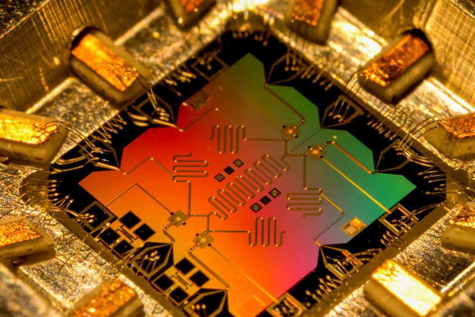 Model of the quantum processor computer. Quantum computer.