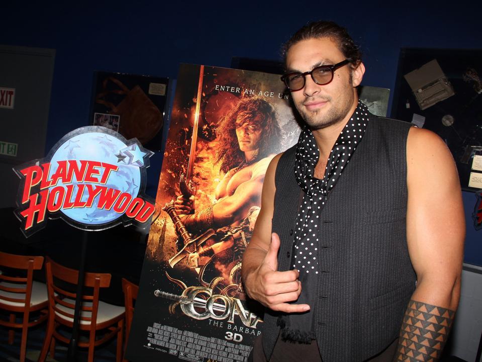 Jason Momoa Visits Planet Hollywood - August 18, 2011