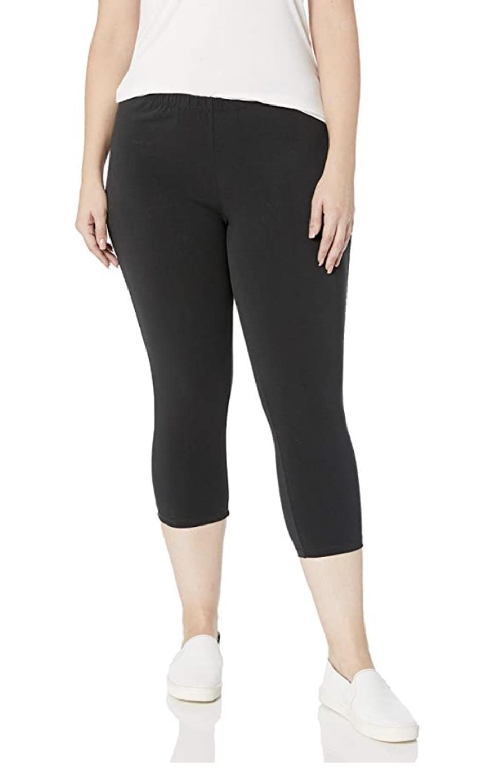 Just My Size Plus-Size Stretch Jersey Capri Leggings