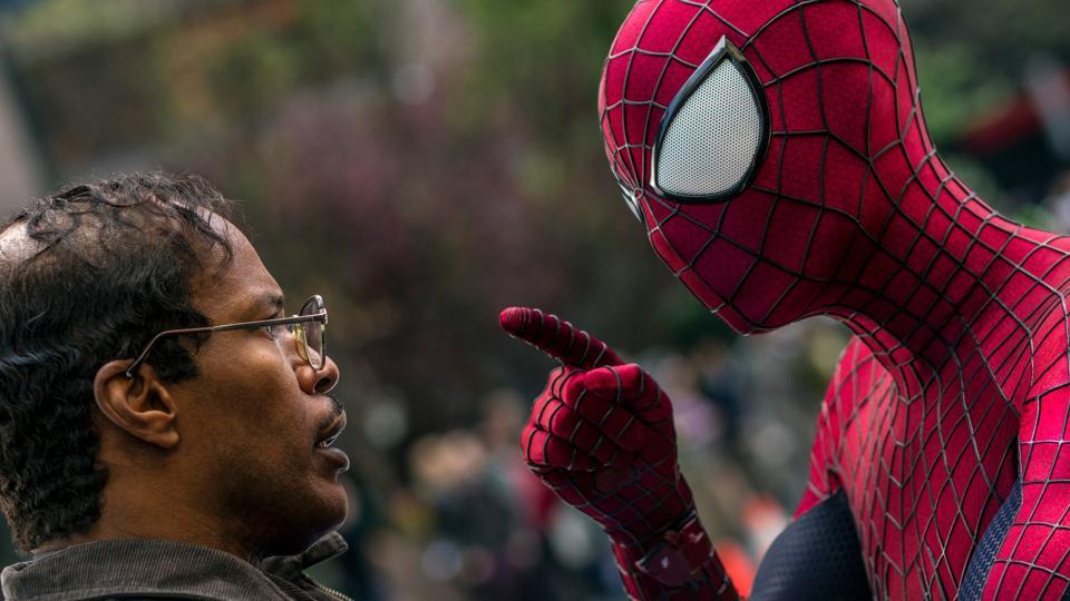 Jamie Foxx and Andrew Garfield in 'Amazing Spider-Man 2'