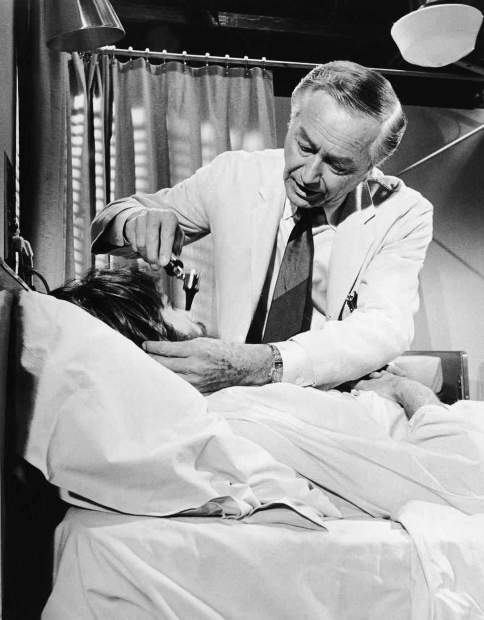 Robert Young Examines Patient In 'Marcus Welby, M.D.'