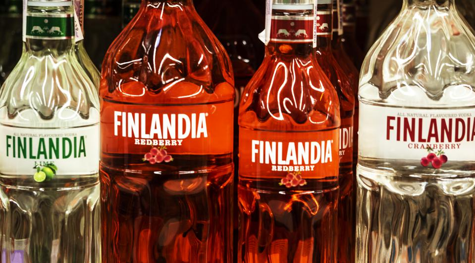 Finlandia is a vodka produced in Finland from Finnish-grown six-row barley.