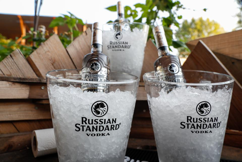 Bottles of Russian Standard Vodka