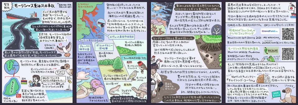 Japanese artist NUMAGASA Watari developed an innovative citizen science engagement campaign to raise awareness in Japan about the Wakashio oil spill