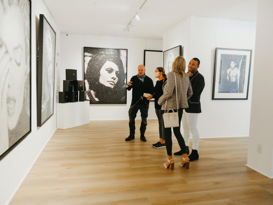 Opening reception for Russell Young's ″Heroes + Heroines″ at Art Angels Gallery in Los Angeles.