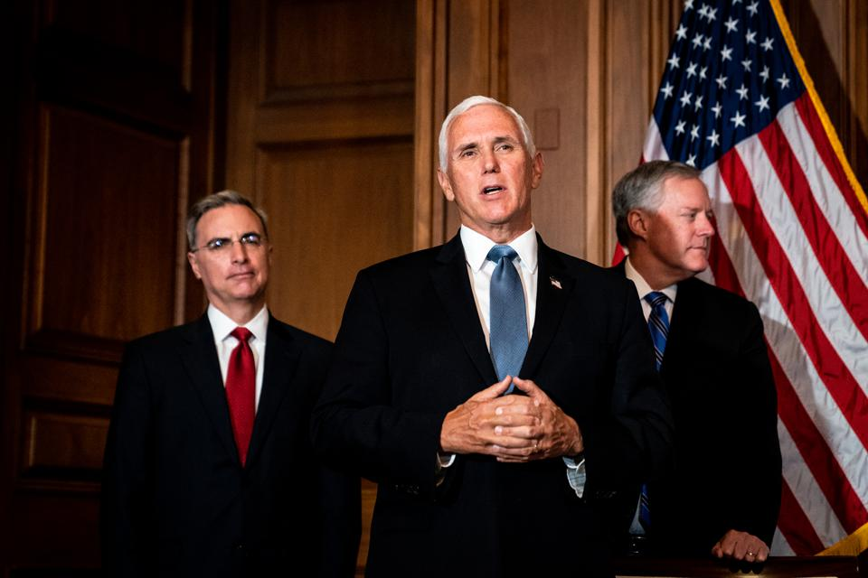Mike Pence, Mark Meadows as Senators Meet With Supreme Court Nominee Amy Coney Barrett