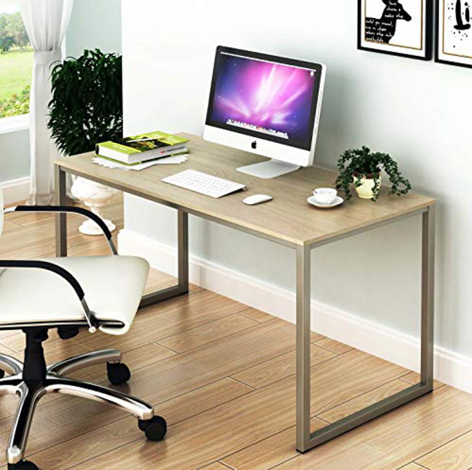 A faux wood top desk.