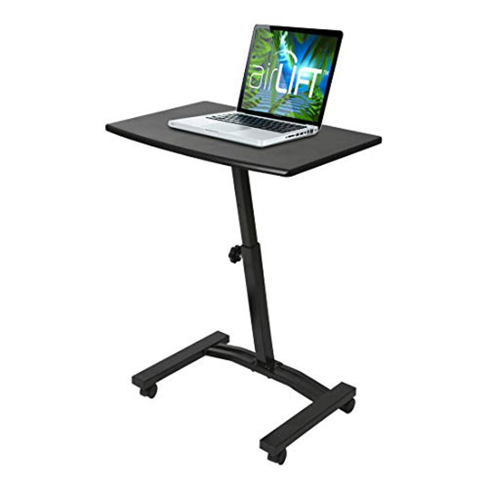 A compact laptop desk.
