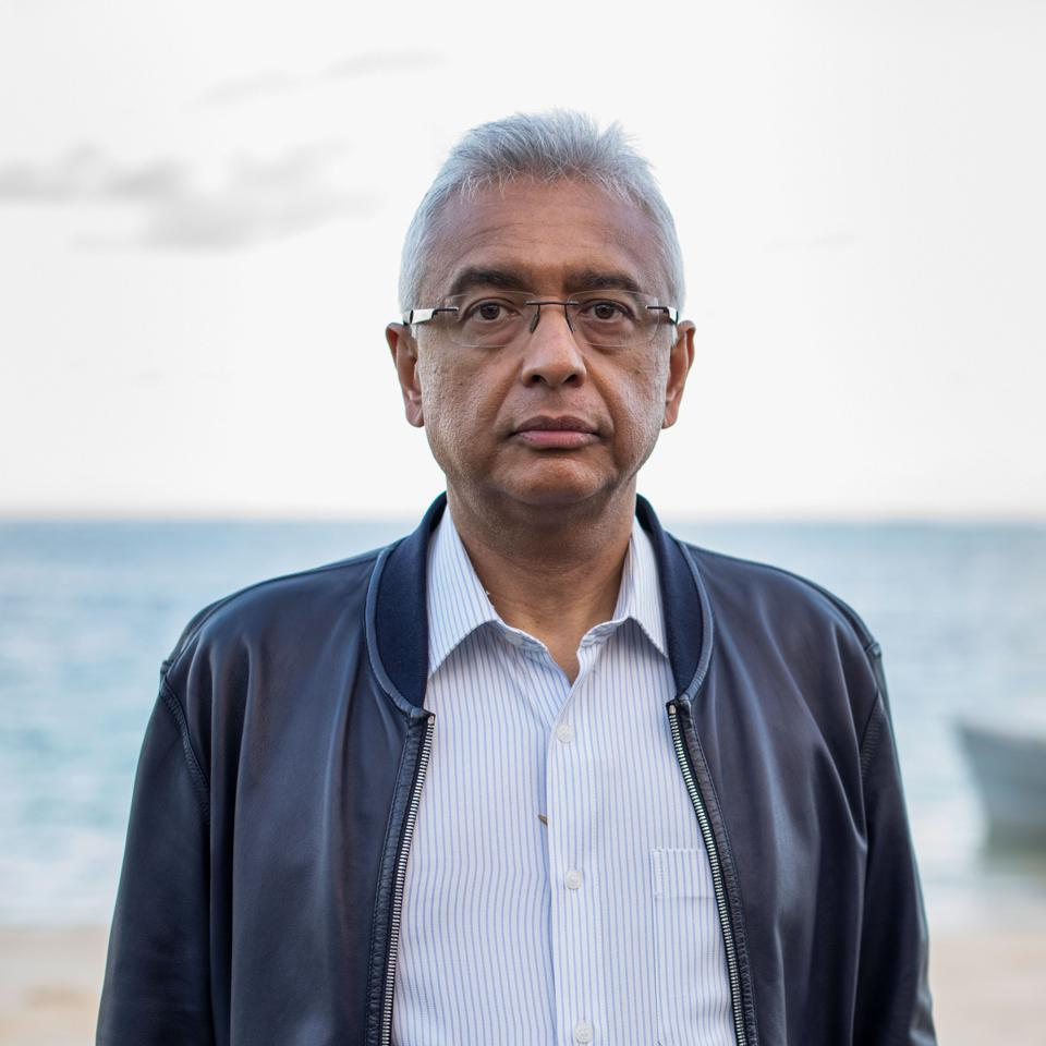 The Chair of Mauritius National Crisis Committee was the Prime Minister of Mauritius, Pravind Jugnauth, seen here posing for a portrait at Blue Bay Marine Park, Mauritius, on August 13, 2020.