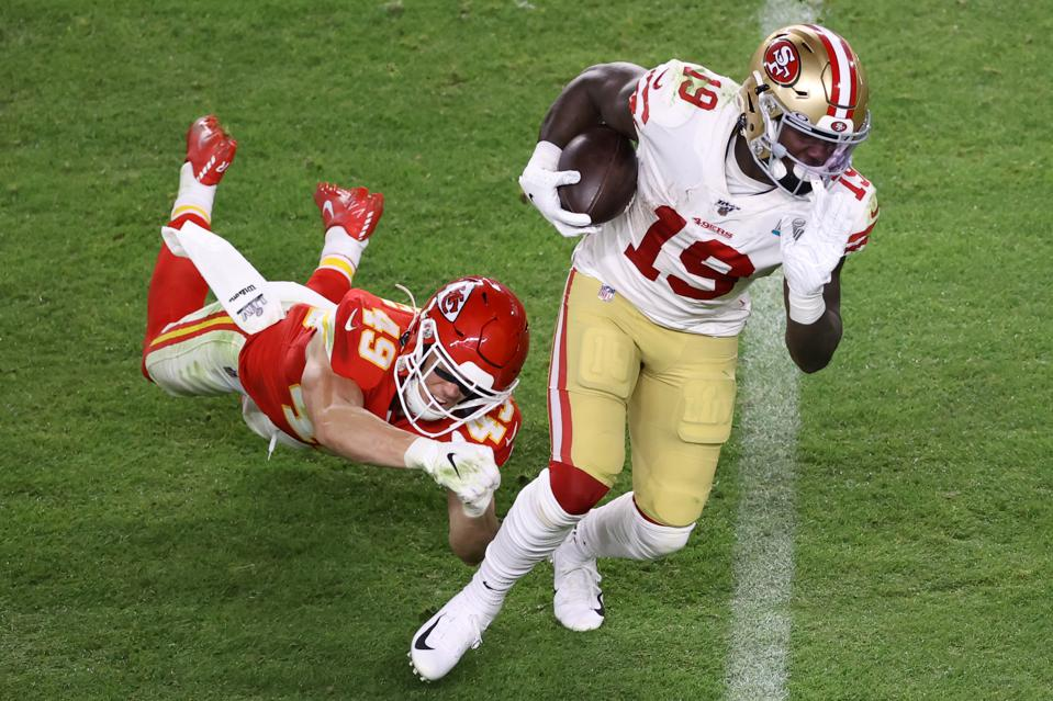 49ers WR Deebo Samuel against the Chiefs in Super Bowl LIV.