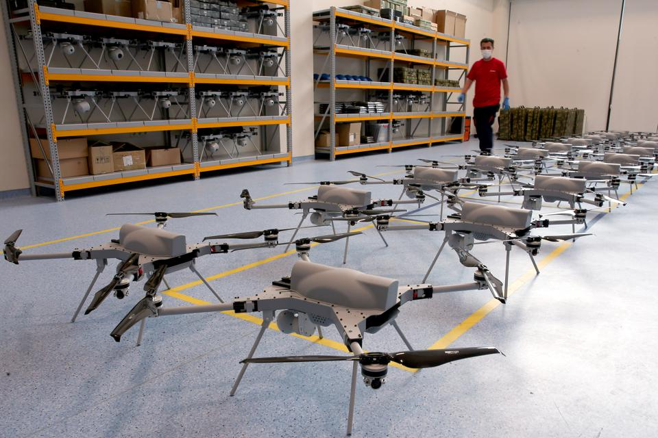 Autonomous Rotary Wing Attack Drone UAV Kargu production in Turkey's capital