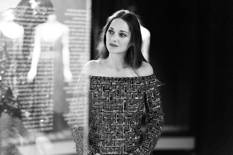 French Actress Marion Cotillard visits the new Gabrielle Chanel exhibition in Paris