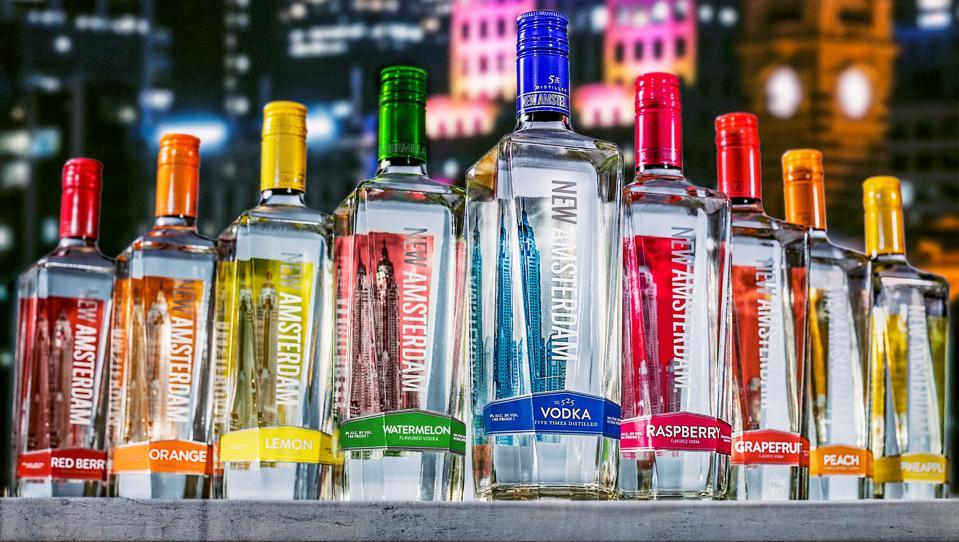 The New Amsterdam Vodka range