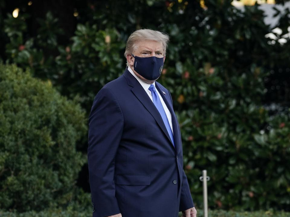 Trump Departs White House For Walter Reed Medical Center After COVID-19 Diagnosis