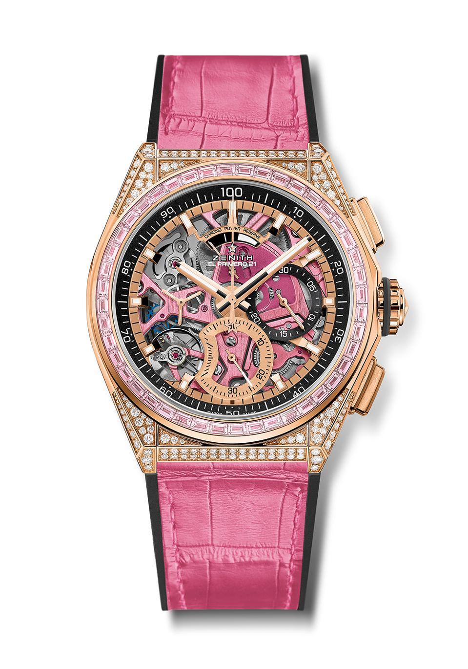 Zenith Ladies Defy 21 Pink