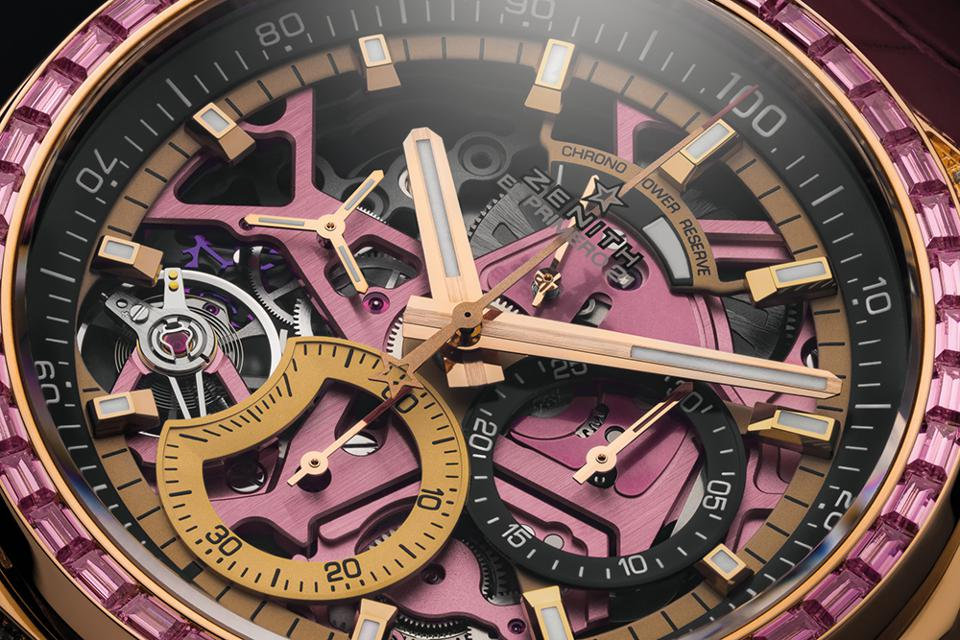 Proceeds from the sale of Zenith Ladies Defy 21 Pink will go to fight breast cancer.