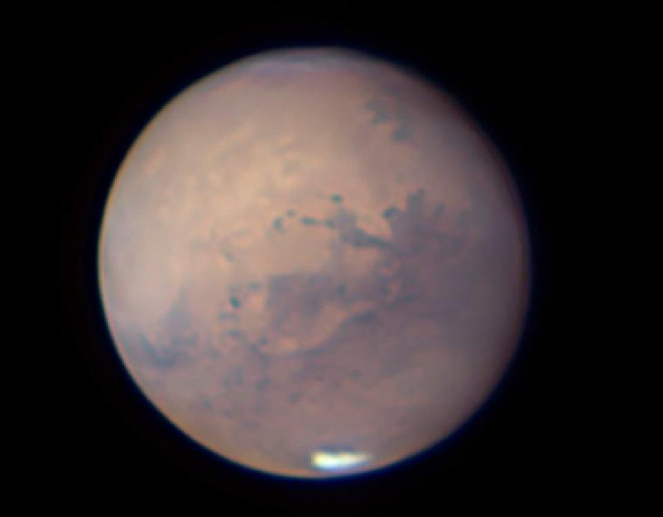 Mars as viewed by Martin Ratcliffe on September 25, 2020, near closest approach.