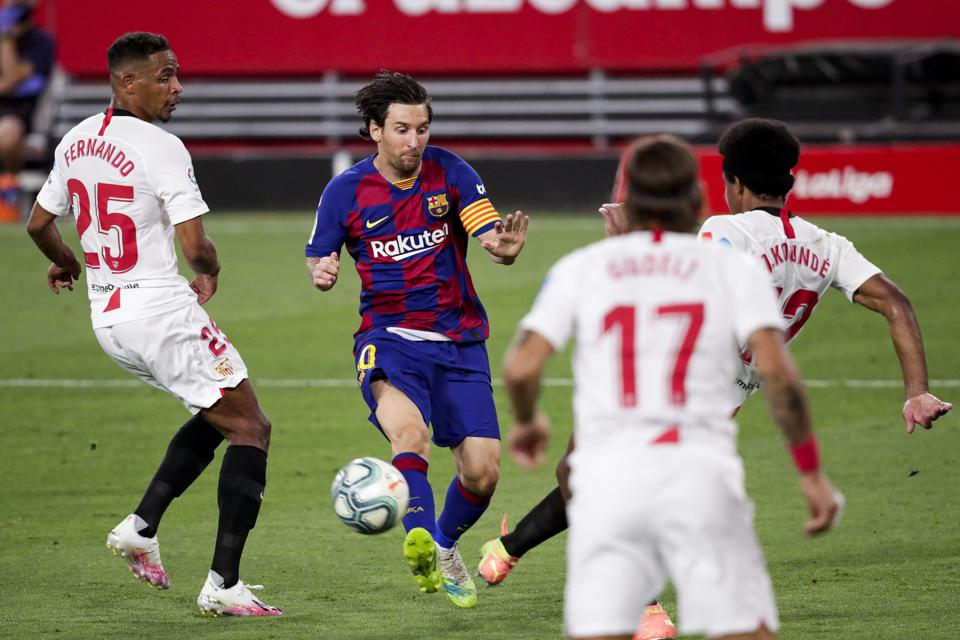FC Barcelona face Lionel Messi's favorite target in Sevilla this evening.
