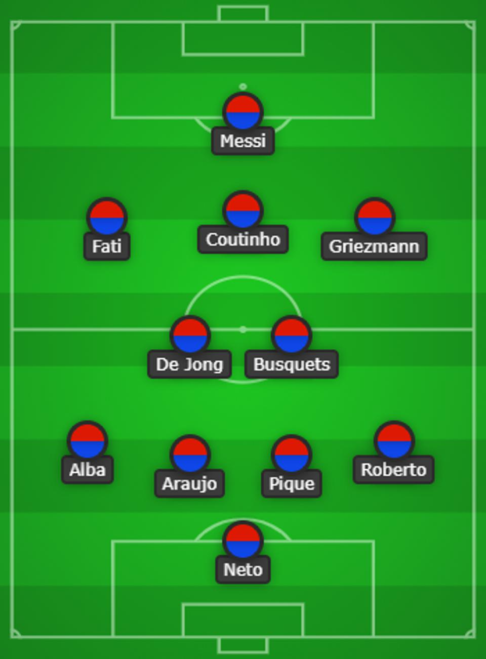 Koeman will only make one change to his starting lineup when FC Barcelona face Sevilla.