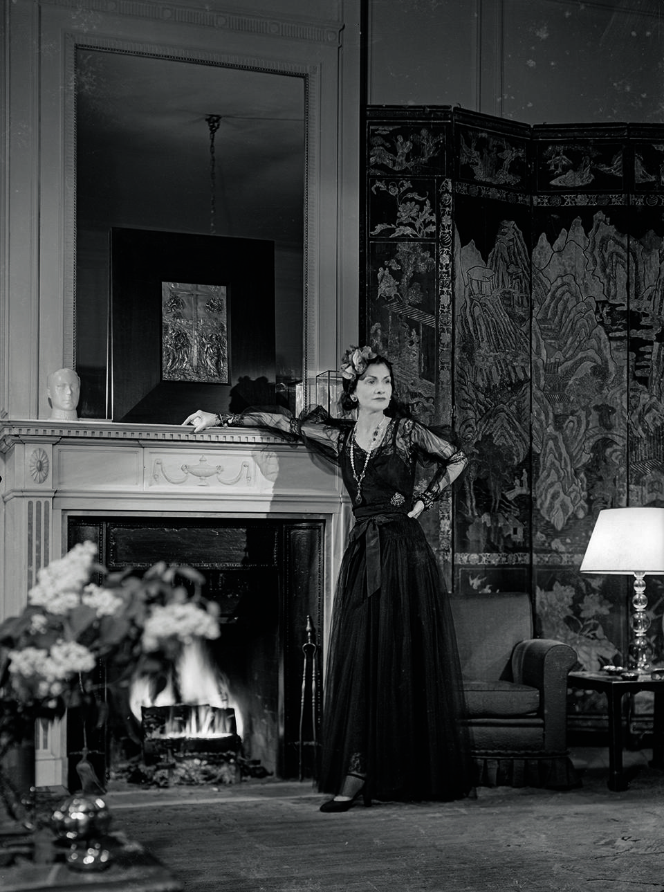 Coco Chanel in her apartment at The Ritz for  Harper's Bazaar in November 1937