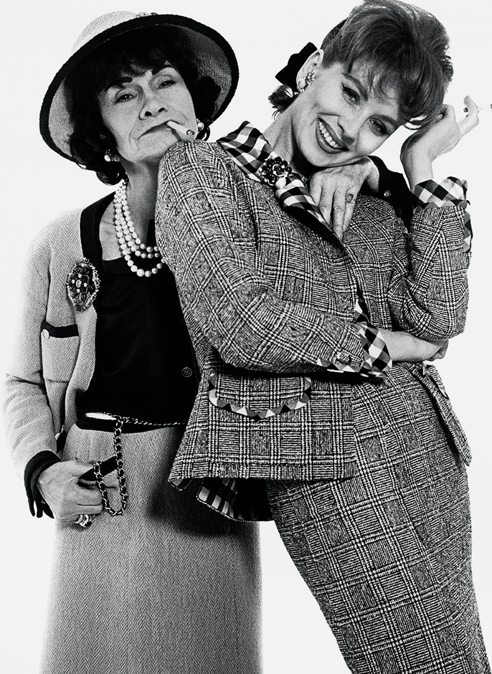 Richard Avedon. Gabrielle Chanel and Suzy Parker dressed by Chanel, Paris, January 1959
