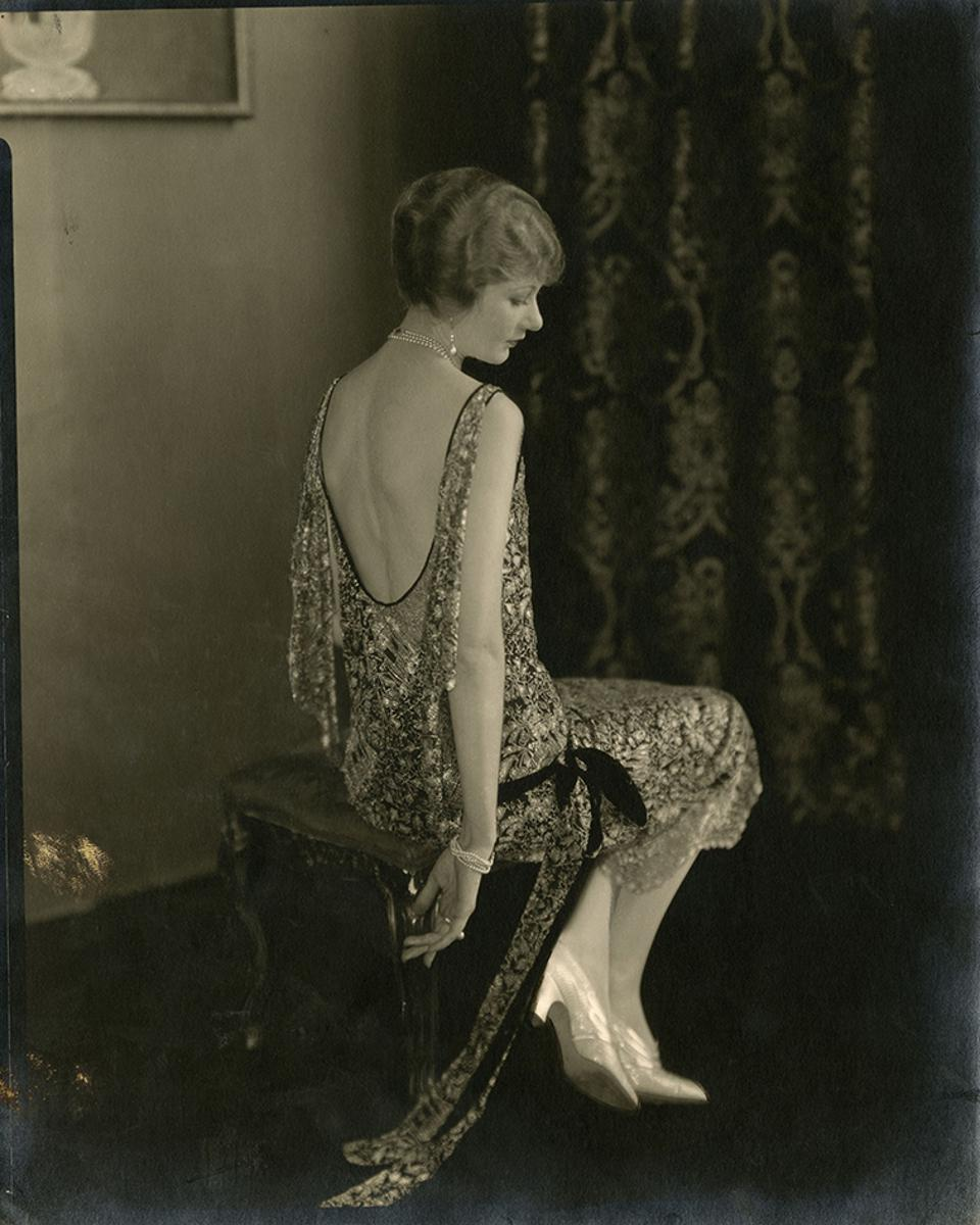 The actress Alden Gray wears a Chanel dress, published in Vogue, October 15, 1924