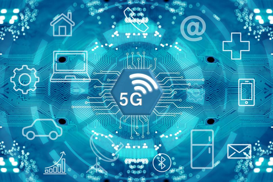 5G network wireless systems and internet.