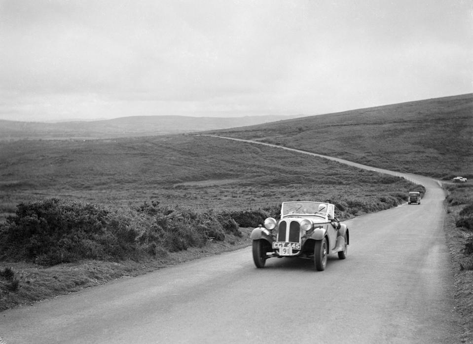 Frazer-Nash BMW 319/55 of LG Johnson, competing at the MCC Torquay Rally, July 1937