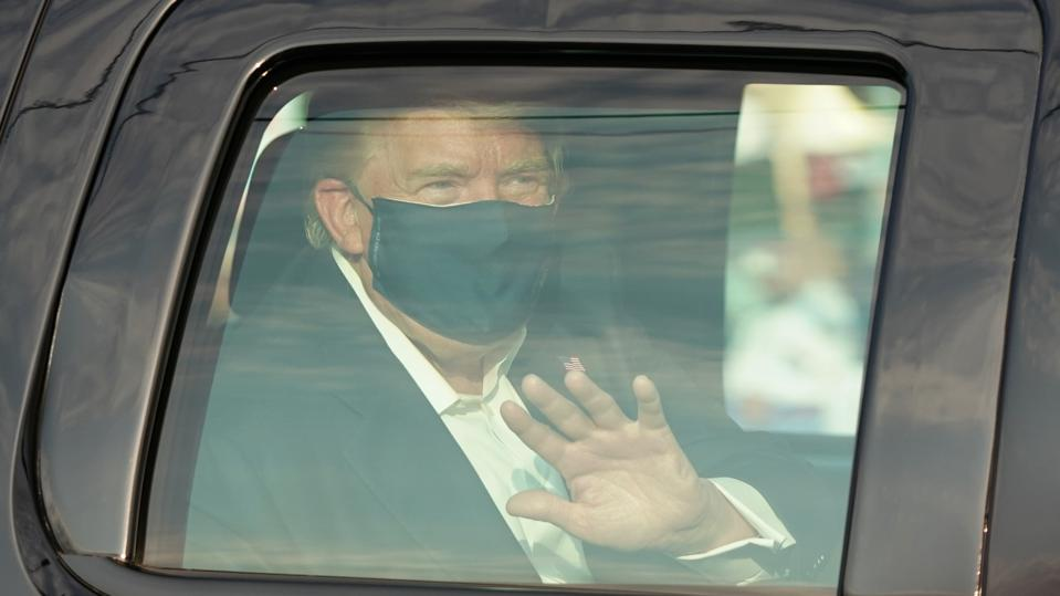 Trump Briefly Leaves Hospital To Greet Well-Wishers Outside